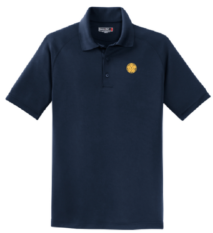 Mens - Luther Rose Embroidered Sport Tek Polo - Gold Thread