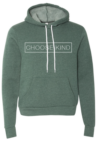 Choose Kind Hooded Sweatshirt - Plain Font (Multiple Colors)