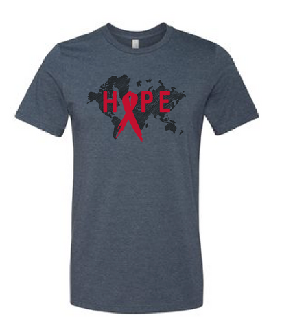 HOPE: World Aids Prevention T-Shirt (Multiple Colors)