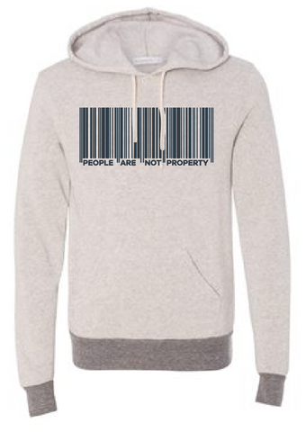 LOVE: People Are Not Property Hooded Sweatshirt