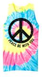 Peace Be With You Tie-Dye Tank Top (Multiple Colors)