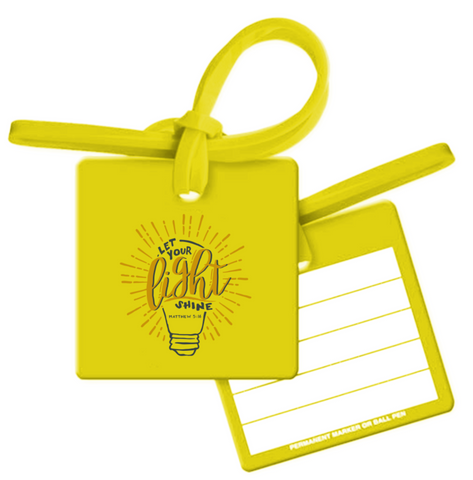 Let Your Light Shine Bag Tag