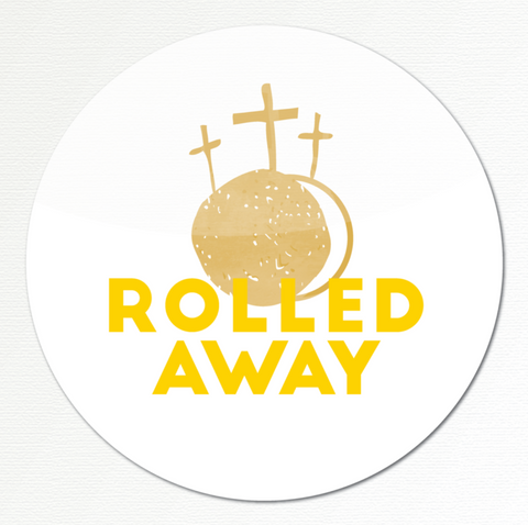 Rolled Away Sticker