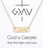 God Is Greater Necklace (Multiple Colors)
