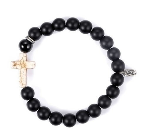 Black Onyx Cross Bracelet