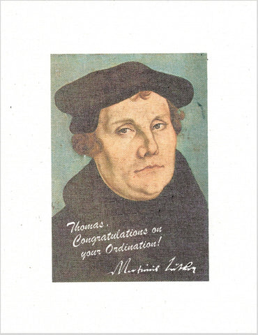 Martin Luther Signed Portrait