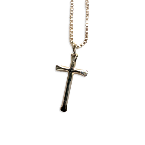 Small Sterling Silver Cross Necklace