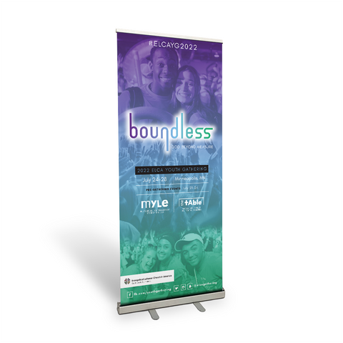 ELCA Youth Gathering boundless Retractable Banner (Multiple Sizes)