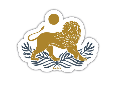 Daniel and the Lions Sticker