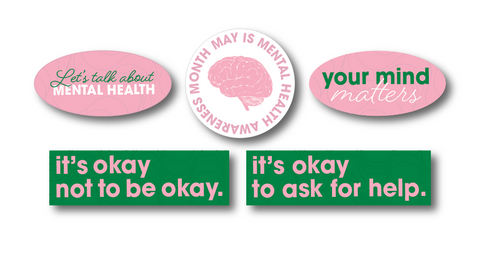 Mental Health Awareness Sticker Pack