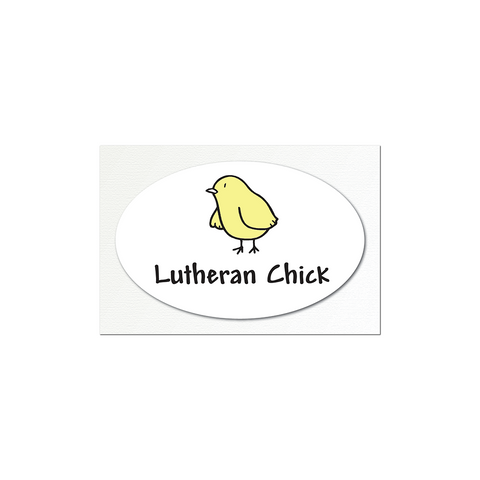 Lutheran Chick Small Sticker