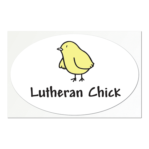 Lutheran Chick Large Sticker