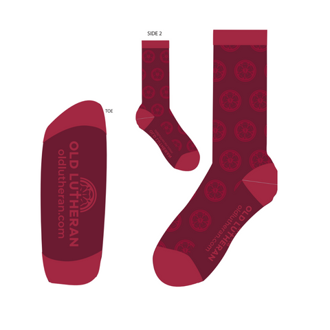 Luther Rose Pattern Dress Socks