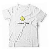 Lutheran Chick Unisex T-Shirt (Multiple Colors)