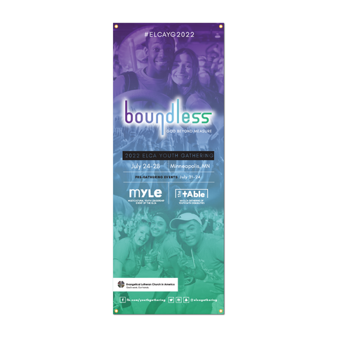 ELCA Youth Gathering boundless X-Stand Banner (Multiple Sizes)