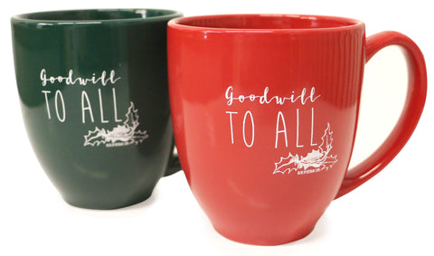 Peace On Earth - Goodwill To All Mug (Multiple Colors)