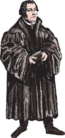 (Mini) Life Size Martin Luther Sticker