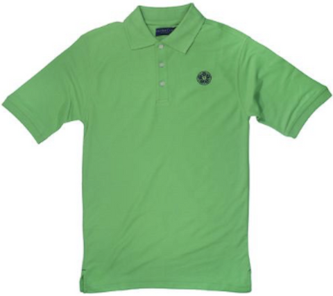 Mens - Luther Rose Embroidered Polo - Navy Thread