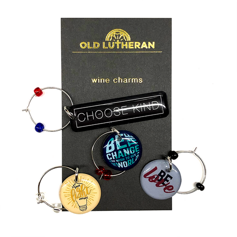 Wine Charms - Choose Kind, Be the Change, Be Love, and Let Your Light Shine