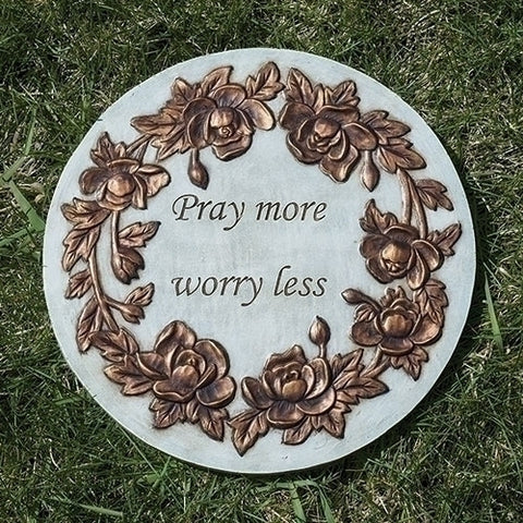 Garden Stone: Pray More Worry Less