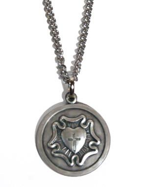 Luther Rose Stainless Steel Necklace