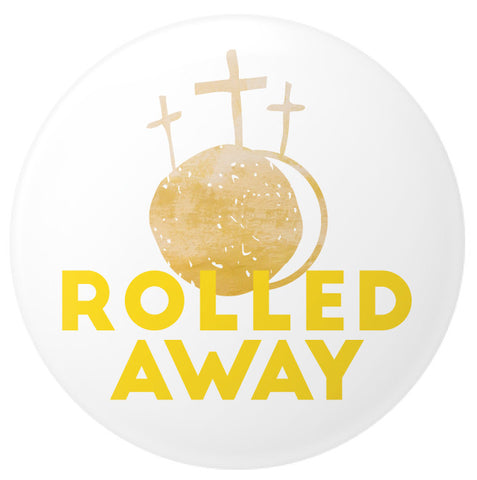 Rolled Away Button - 2.25 Inches