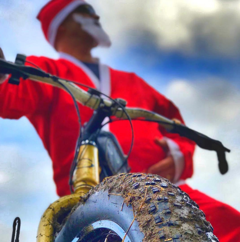 Santa Claus is coming to town…on an electric bike