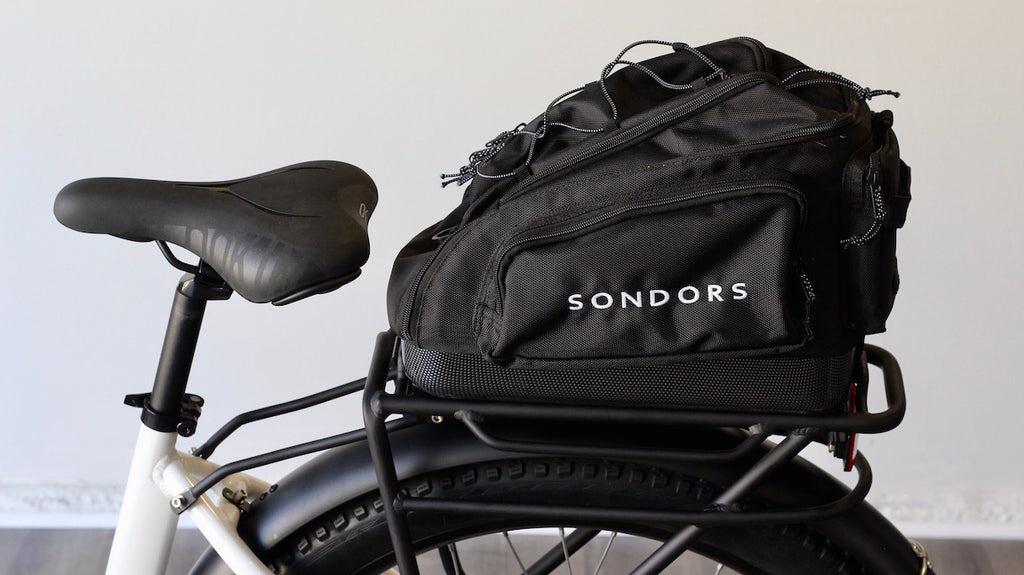 Accessories: SONDORS Smart Step Fenders, Rack + Bag Kit - Compatible with Smart Step shipped prior to January 1st 2020