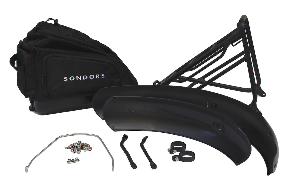 Accessories: SONDORS Original, SONDORS X, SONDORS XS 7-speed Fenders, Rack + Bag Kit (NOVEMBER SHIPPING)