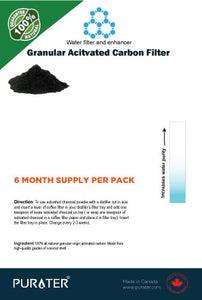distilled water activated charcoal filter