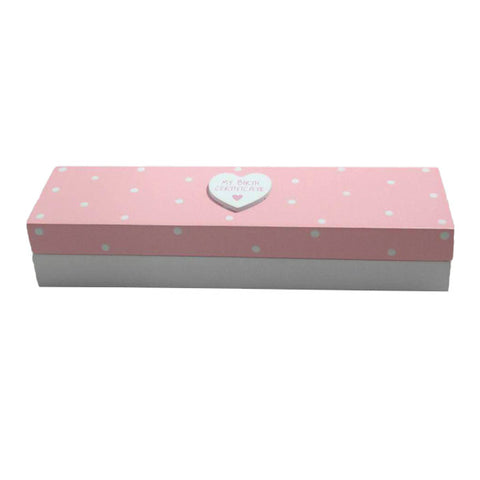 Pink Birth Certificate Box