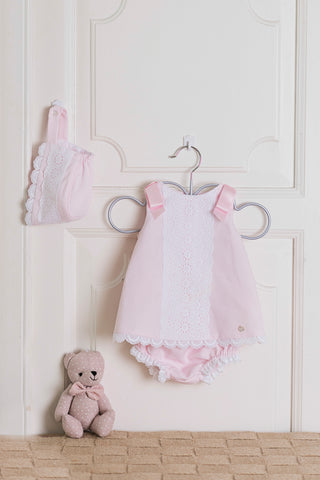 Dolce Petit Pink Ribbon Dress & Knickers Set 2007-VB