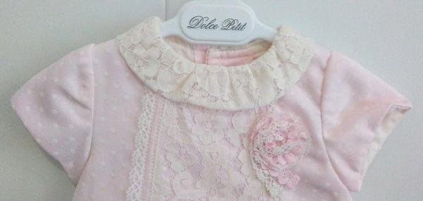 Dolce Petit Baby Pink Polka Dot Dress with pants