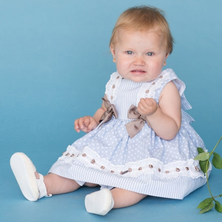 Dolce Petit Blue & White Polka Dot dress & Pants