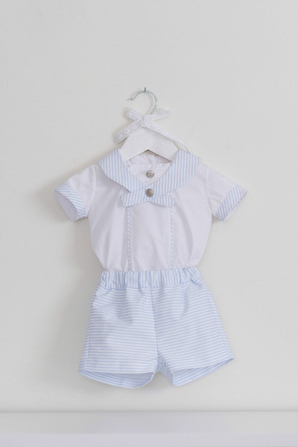 Dolce Petit Baby Boys Blue & White Sailor Set