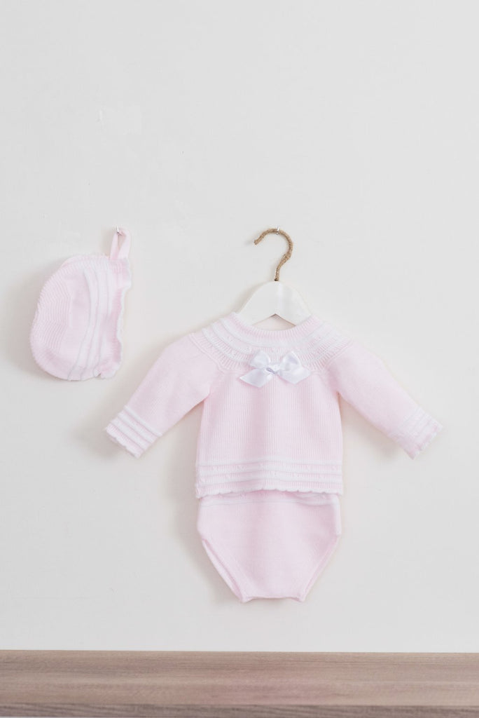 Dolce Petit Pink Knitted 3 piece Set (2123)