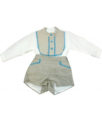 Dolce Petit Shirt and Beige Shorts Set