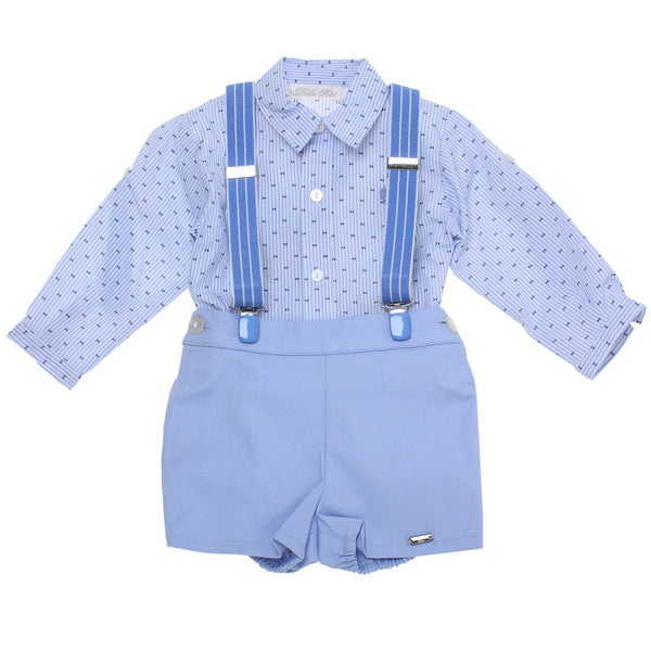 SS18 Dolce Petit Baby Boys Blue Braces Set 2129/23