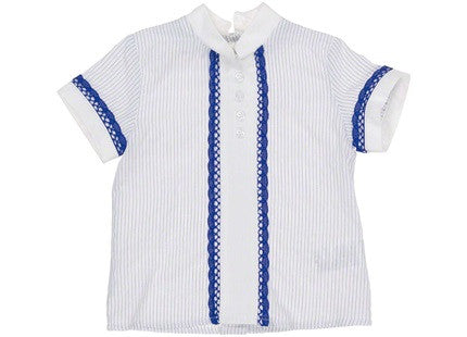 Dolce Petit Boys Blue & White Shirt & Shorts set