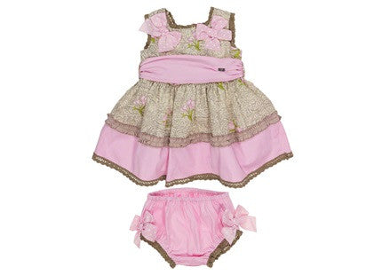 Dolce Petit Girls Pink Floral Dress & matching pants