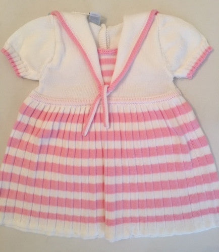 Sailor Style Pink & White Dress