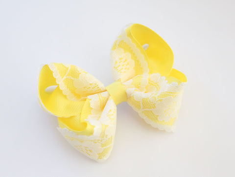Daffodil Vintage Lace Bow