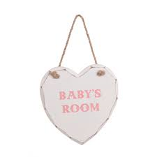 Pink Baby's Room Hanging Heart