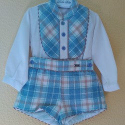 Dolce Petit Boys White Shirt & Checked Shorts