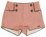 Dolce Petit Boys L/Sleeve Shirt & Rust Check Shorts