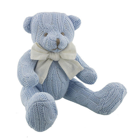 Blue Cable knit Teddy