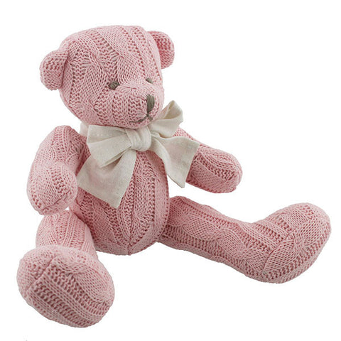 Pink Cable knit Teddy