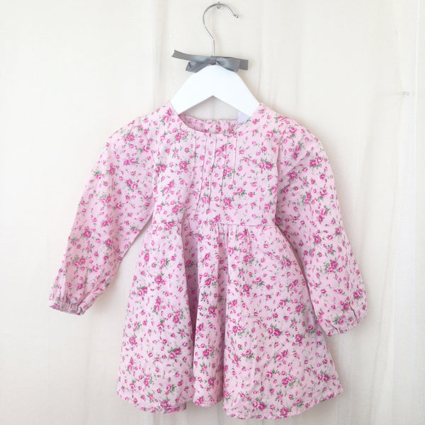Ditsy Floral Print Pink Dress