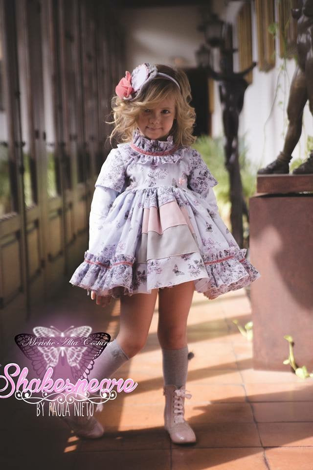 Damson Floral Ruffle Shakespeare Dress