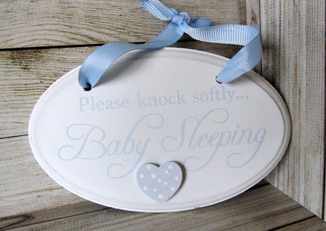 Knock Softly Oval Plaque